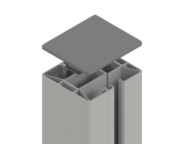 Tr. Glassystem Klemmpfosten Silber 88x74x1930 mm, Nr.2313