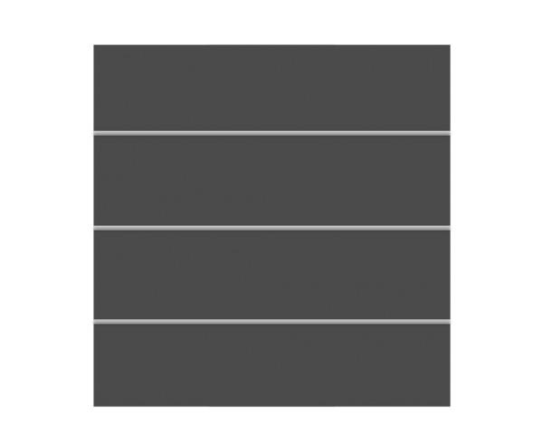 Tr. Board XL Zaun-Set schiefer 178 x 180 cm  Nr. 2800