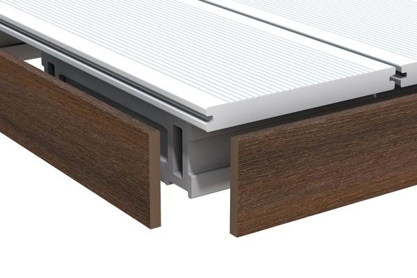 Dreamdeck Platinum Abschlussleiste braun 10x60x2000 mm, Nr.2113