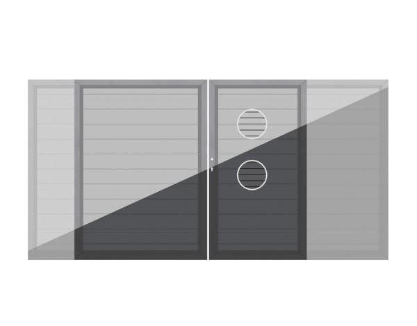 System Tor ALU Doppeltor auf Maß anthr oder grau, Nr.2556