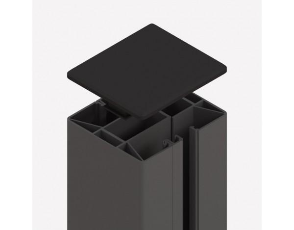 Tr. Glassystem Klemmpfosten Anthrazit 88x74x1050 mm, Nr.2340