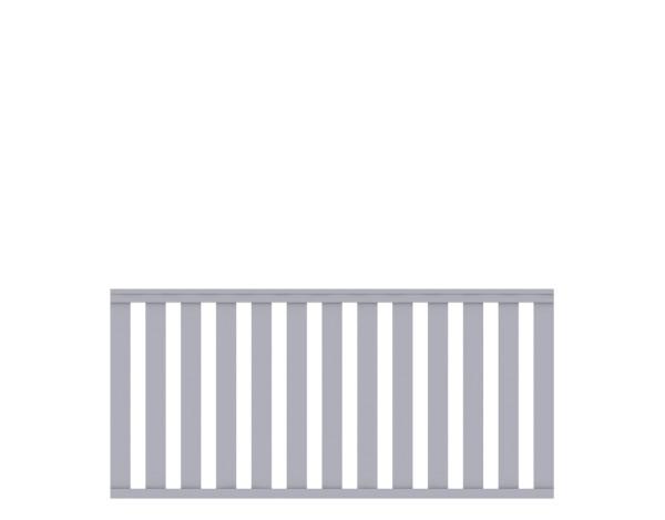 LongLife Cleo gerade, grau Zaun Nr. 1844
