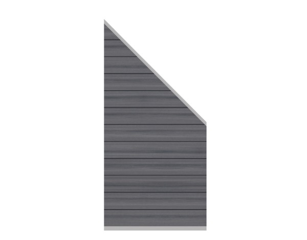 System Platinum Zaun-Anschluss-Set grau  89 x 180 cm  Nr.2826