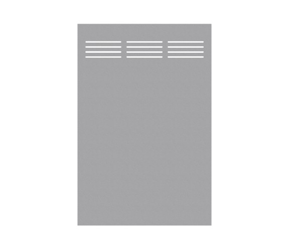 Tr. Board Slot-Design titangrau 120 x 180 cm, Nr. 2724