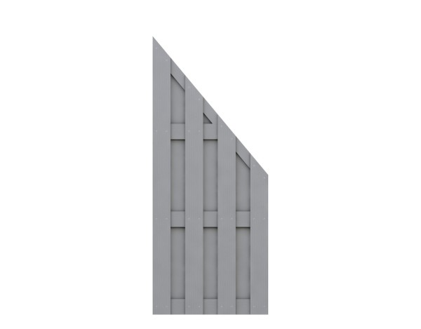 Traumgarten Anschluß-Zaun Jumbo WPC grau Nr.2212
