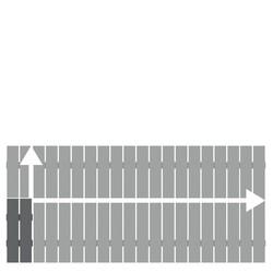 Alu-Vorgartenzaun Squadra anthrazit auf Maß50-200 x 50-100 cm, Nr. 2428