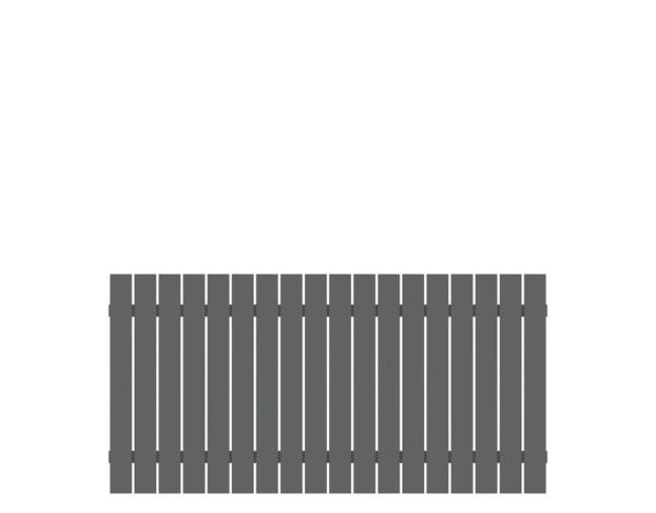 Alu-Vorgartenzaun Squadra anthrazit 180 x 90 cm, Nr. 2427
