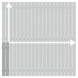 Alu-Zaun Squadra lichtgrau auf Maß 101-200 x 101-200 cm, Nr. 2421