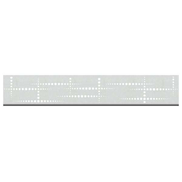 Tr. System Dekorprofil Puls silber, hoch  Nr. 3297