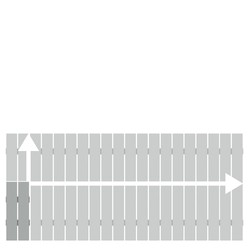 Alu-Vorgartenzaun Squadra lichtgrau auf Maß50-200 x 50-100 cm, Nr. 2423