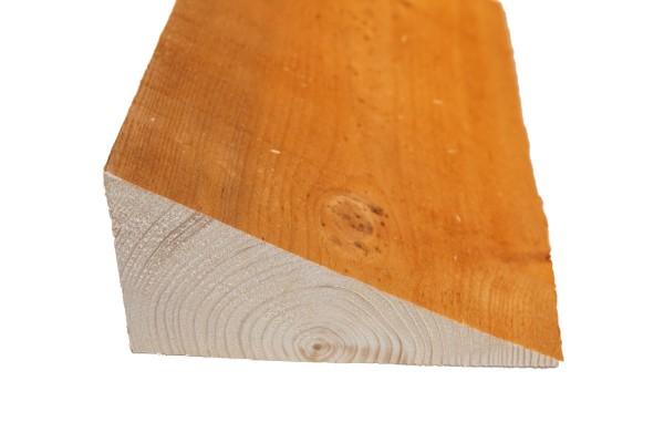 8 x 16 cm Keilbohlen Fichte braun imprägniert