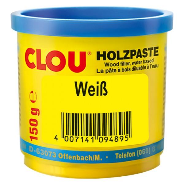 Clou Holzpaste weiss 150 g