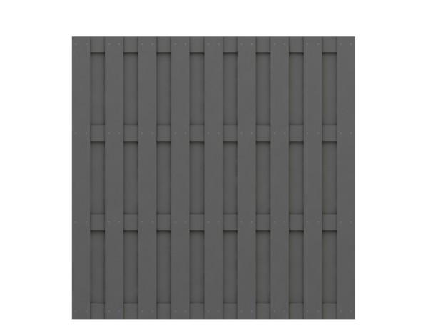 Traumgarten Rechteck-Zaun Jumbo WPC anthrazit Nr.2086