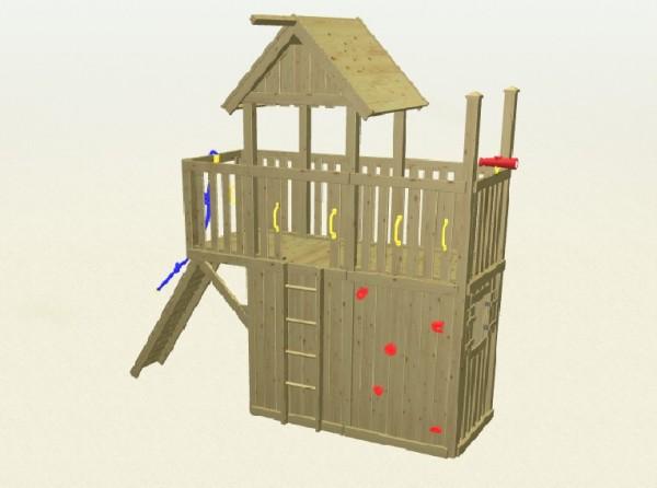 Winnetoo Spielturm Fee 3 Komplettset