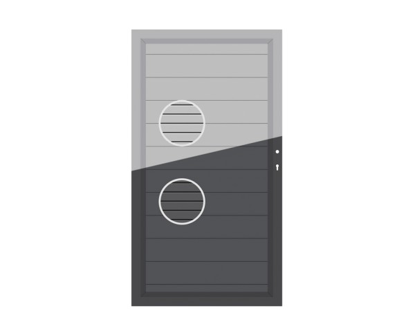 System Tor ALU Einzeltor auf Maß anthr oder grau, Nr.2557