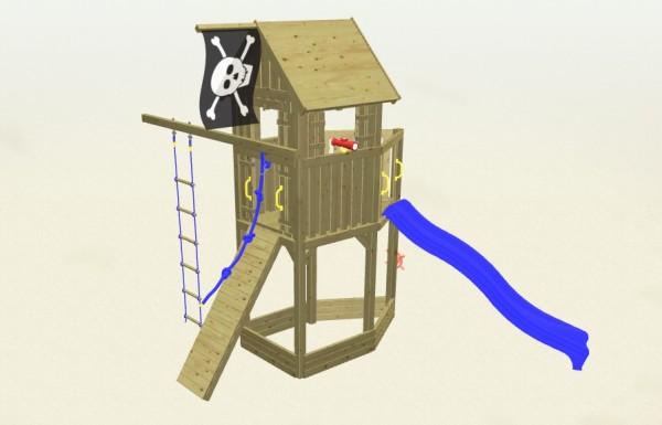 Winnetoo Spielturm Pirat 4 Komplettset