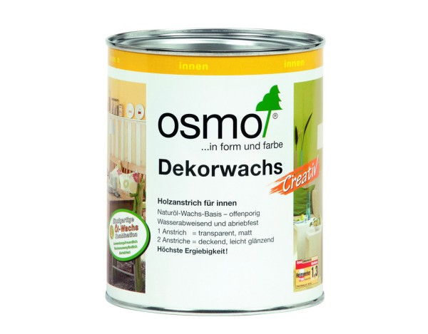 OSMO Dekorwachs Creativ Weiss-Matt 3186,  0,750 l
