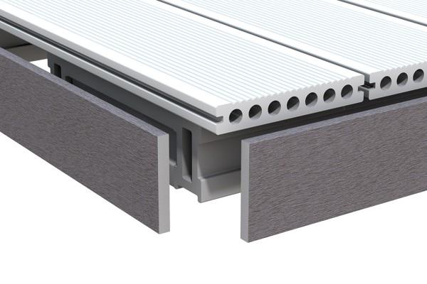 Dreamdeck WPC anthrazit Abschluß 10x80x2000 mm, Nr.2069