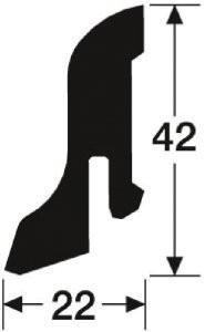 Sockelleisten 1MK Meister Dekor Risseiche Terra 6439