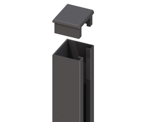System WPC U-Profil anthranzit (inkl. Kappe) 238x4x3cm Nr.2416