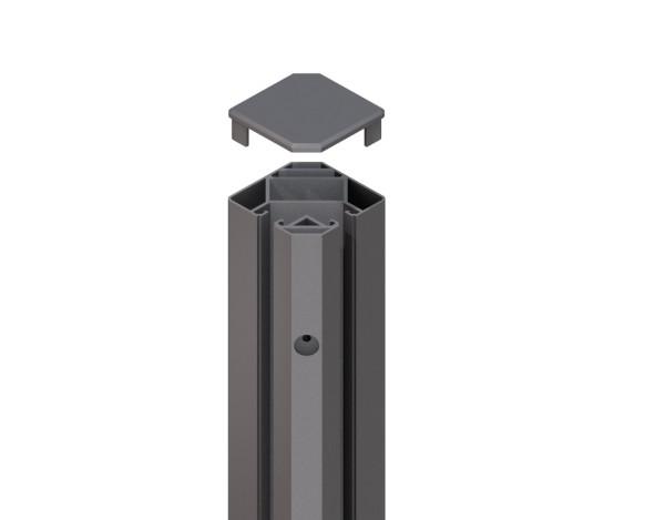 Tr. Glassystem Eckklemmpfosten Anthrazit 88x98x1930 mm, Nr.2342