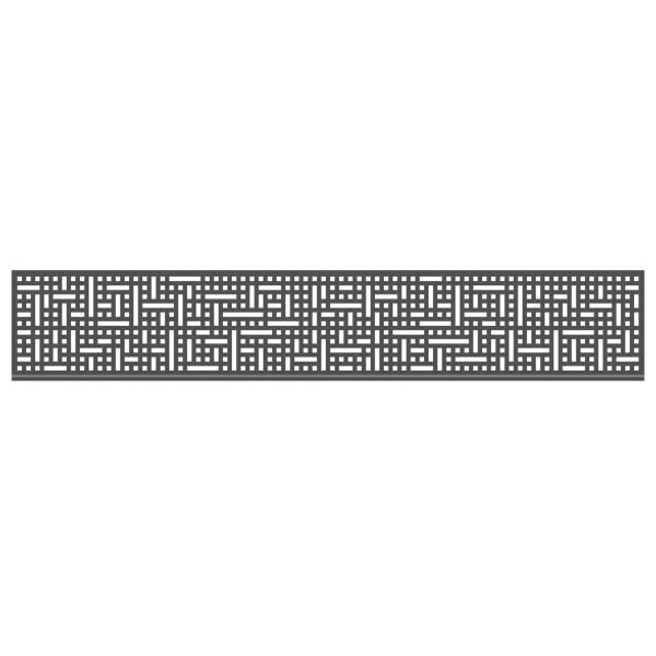 Tr. System Dekorprofil Quattro anthrazit, hoch  Nr. 3295