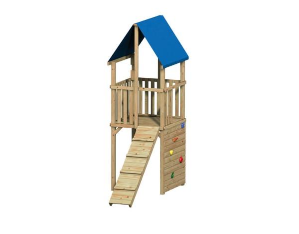 Fips Spielturm mit Kletterwand und Steg Nr.4208