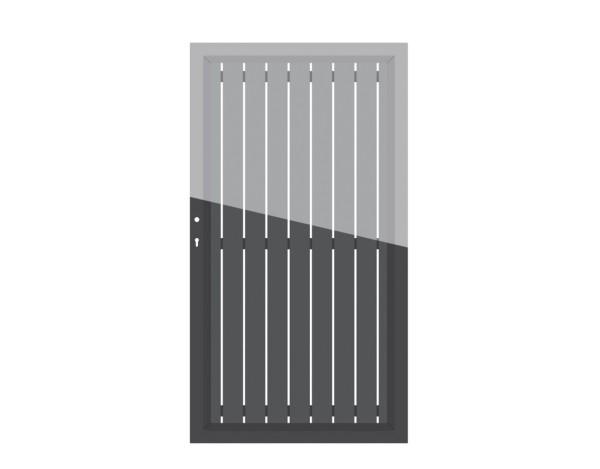 Alu Tor Squadra Einzeltor auf Maß bis 180 x 180 cm Nr. 2561