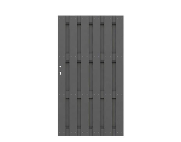 Jumbo WPC Tor Anthrazit Nr. 2088 (inclusive Schloss und Aufsatzleiste)