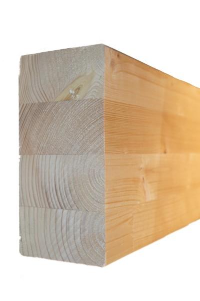 8 x 16 cm Leimholzbinder Fi. BSH GL 24 c/h EN 14080-2013, hell verleimt