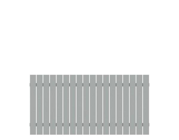 Alu-Vorgartenzaun Squadra lichtgrau 180 x 90 cm, Nr. 2422