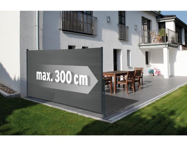 Seitenmarkise grau-anthrazit Basic 160x300cm, Nr. 4291