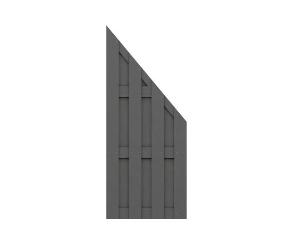 Traumgarten Anschluß-Zaun Jumbo WPC anthrazit Nr.2087