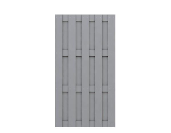 Traumgarten Rechteck-Zaun Jumbo WPC grau 95x179 Nr.2211
