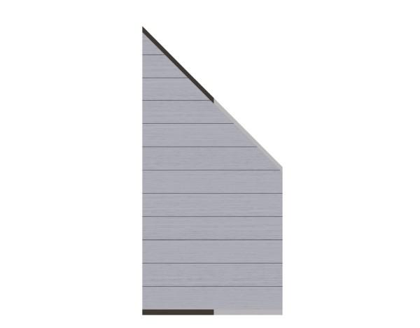 System WPC Zaun-Anschluss-Set grau 89 x 180 cm  Nr. 2821