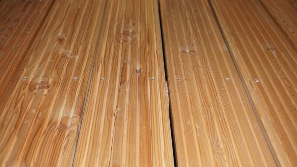 27 x 145 mm Terrassendiele sibirische Lärche, genutet