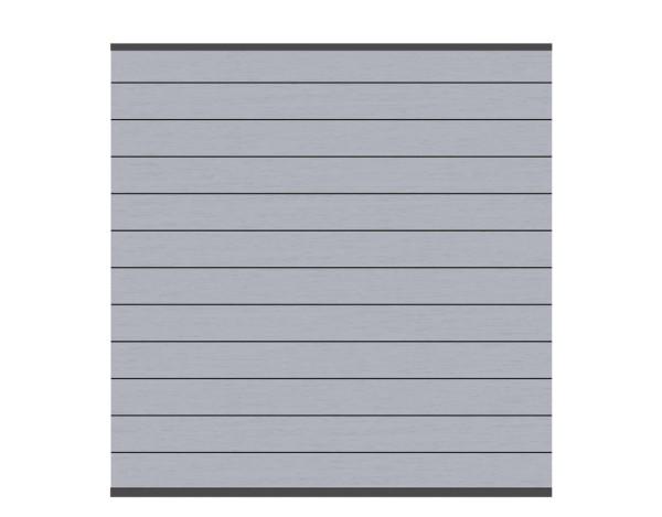 System WPC Zaun-Set grau, Anthr. Leiste Nr.2576