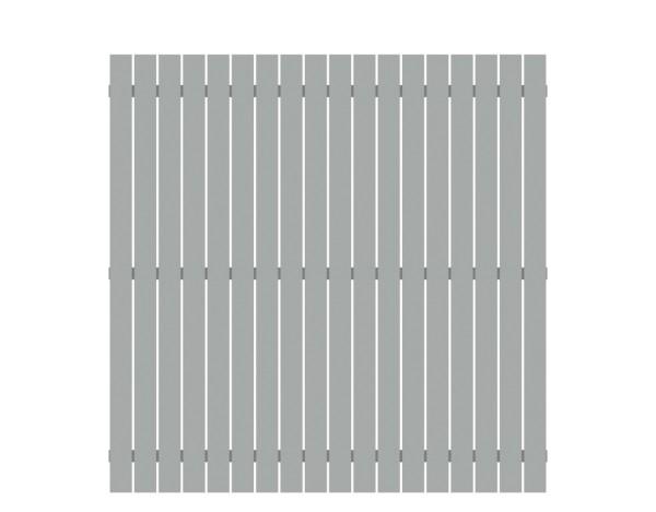 Alu-Zaun Squadra lichtgrau 180 x 180 cm, Nr. 2420
