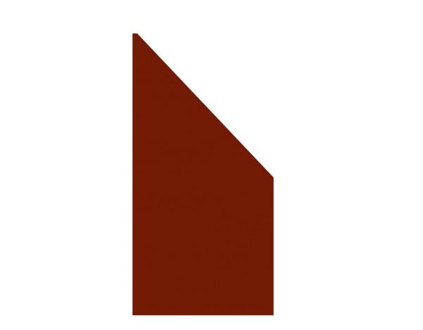 Tr. Board Anschluß rot 90 x 180/90 cm, Nr. 2734