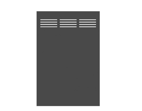 Tr. Board Slot-Design schiefer 120 x 180 cm, Nr. 2730
