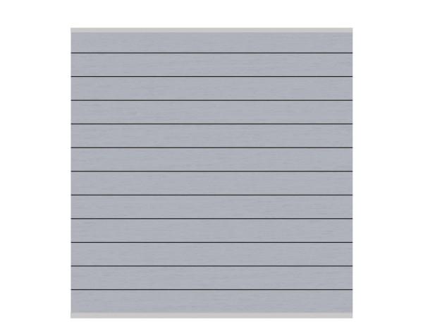 System WPC Zaun-Set grau, silb. Leiste Nr.2577