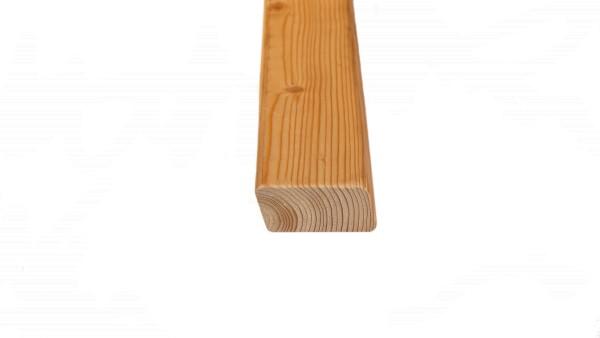 27 x 56 mm Rhombusprofil sibirische Lärche, gerundet, gehobelt,