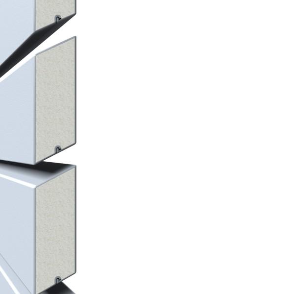 System Rhombus silber Einzelprofil 2 x 6 x 400 cm Nr. 2666