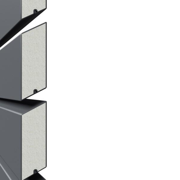 System Rhombus anthrazit Einzelprofil 2 x 6 x 400 cm, Nr.2665