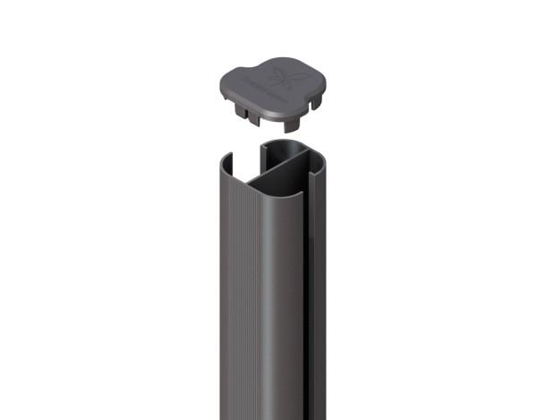 System WPC Eck-Pfosten Basic zum Aufschr. anthr. 9x9x105cm Nr.2334