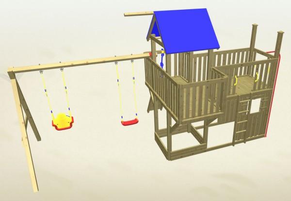 Winnetoo Spielturm Hexe 6 Komplettset