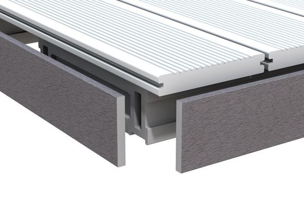 Dreamdeck BiColor Abschlussleiste Anthrazit 10x80x2000 mm, Nr.2200