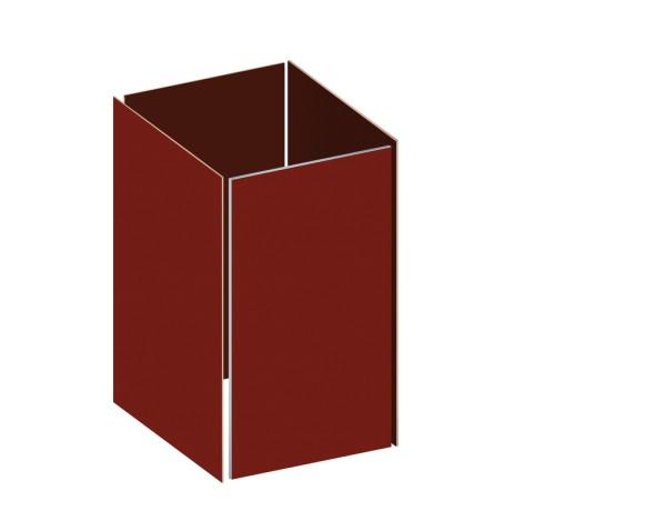 Traumgarten Binto HPL rot Grundverkleidung, Nr. 2398