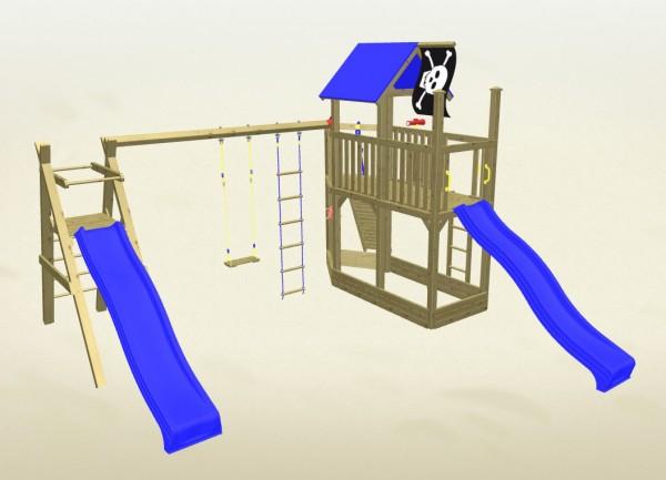 Winnetoo Spielturm Pirat 7 Komplettset