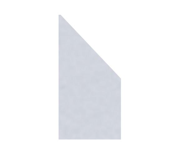 TR Glas Systemzaun Anschluß MATT RECHTS 90x180/90 cm, Nr.2338
